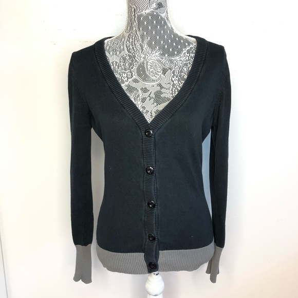 be84fbc733 Roxy Sweaters | Cardigan Black Button Down Heart Size Medium | Poshmark